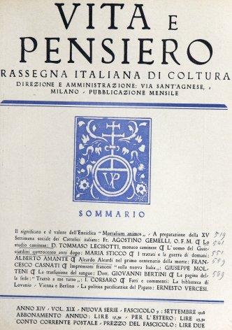 VITA E PENSIERO - 1928 - 9