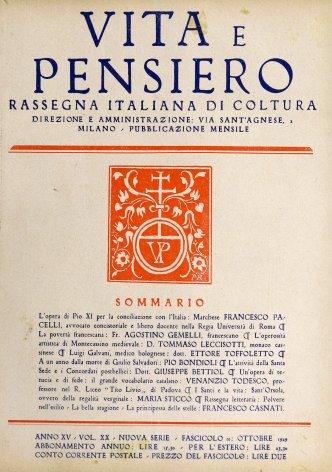 VITA E PENSIERO - 1929 - 10