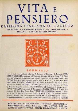 VITA E PENSIERO - 1929 - 11