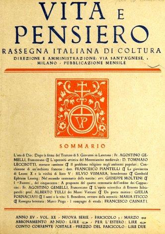VITA E PENSIERO - 1929 - 3
