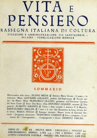 VITA E PENSIERO - 1929 - 5