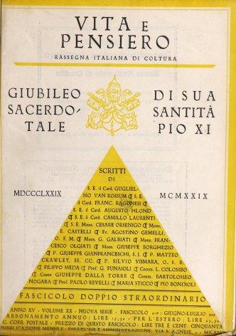 VITA E PENSIERO - 1929 - 6-7