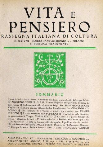 VITA E PENSIERO - 1930 - 11
