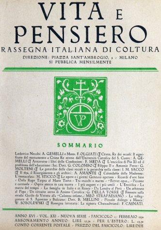 VITA E PENSIERO - 1930 - 2