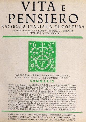 VITA E PENSIERO - 1930 - 3