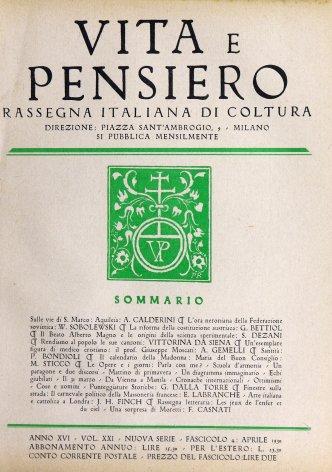 VITA E PENSIERO - 1930 - 4