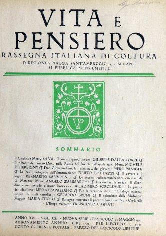 VITA E PENSIERO - 1930 - 5