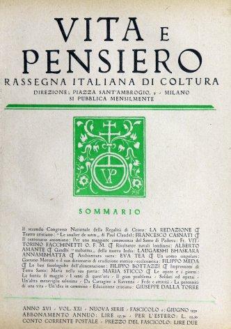 VITA E PENSIERO - 1930 - 6