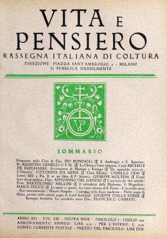 VITA E PENSIERO - 1930 - 7