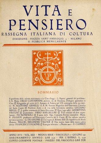 VITA E PENSIERO - 1931 - 6