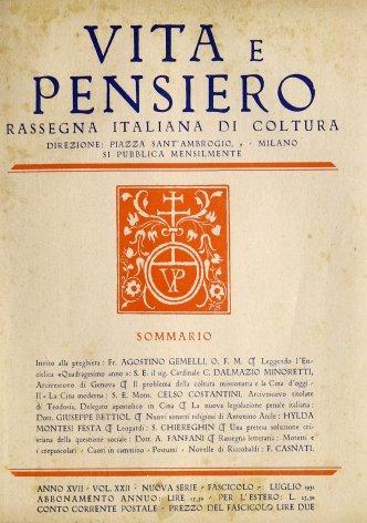 VITA E PENSIERO - 1931 - 7