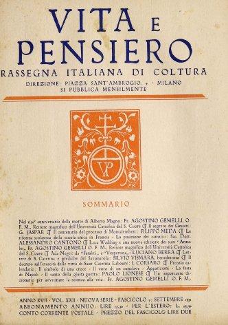 VITA E PENSIERO - 1931 - 9