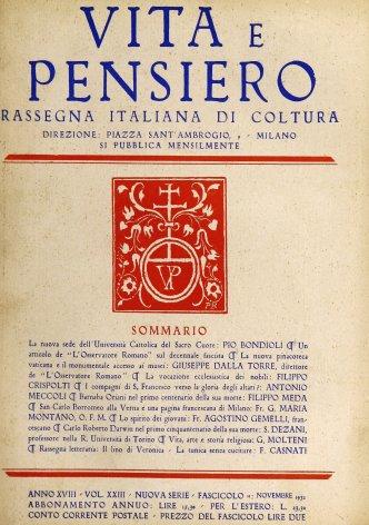 VITA E PENSIERO - 1932 - 11