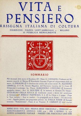 VITA E PENSIERO - 1932 - 2
