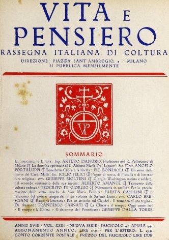 VITA E PENSIERO - 1932 - 4