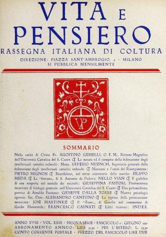 VITA E PENSIERO - 1932 - 6
