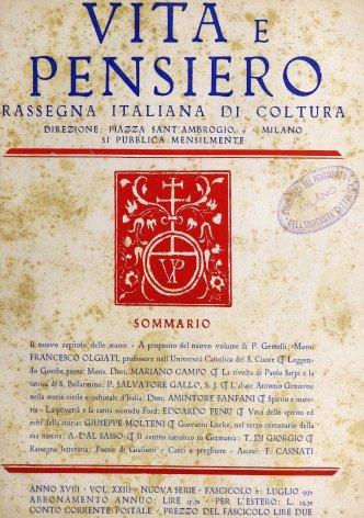 VITA E PENSIERO - 1932 - 7