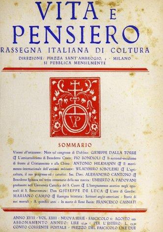 VITA E PENSIERO - 1932 - 8