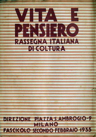 VITA E PENSIERO - 1935 - 2