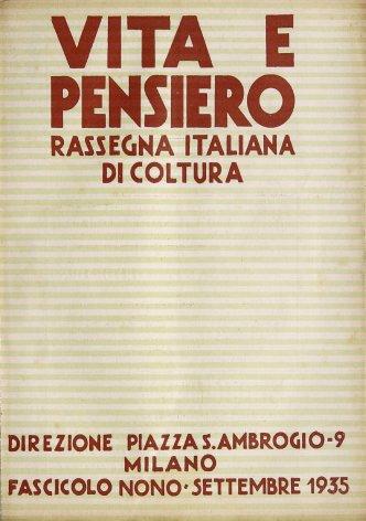 VITA E PENSIERO - 1935 - 9