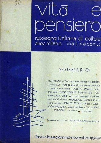 VITA E PENSIERO - 1936 - 11