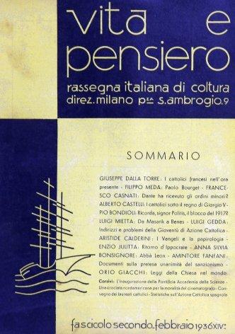 VITA E PENSIERO - 1936 - 2