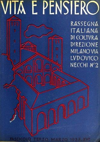 VITA E PENSIERO - 1937 - 3