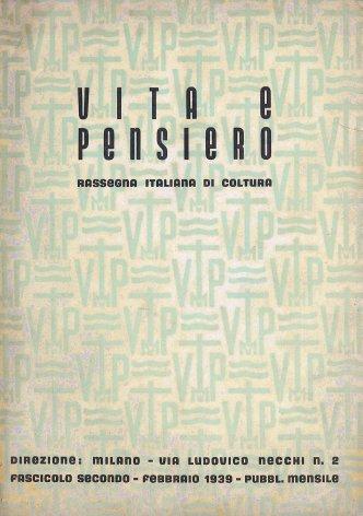 VITA E PENSIERO - 1939 - 2
