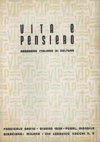 VITA E PENSIERO - 1939 - 6