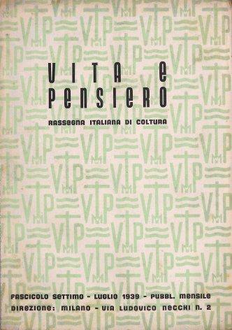 VITA E PENSIERO - 1939 - 7