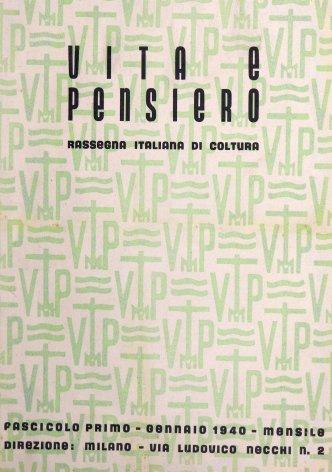 VITA E PENSIERO - 1940 - 1
