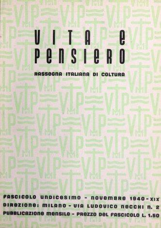 VITA E PENSIERO - 1940 - 11