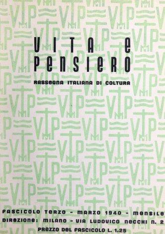 VITA E PENSIERO - 1940 - 3
