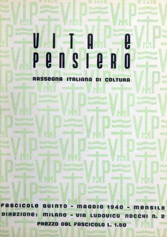 VITA E PENSIERO - 1940 - 5