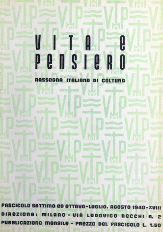 VITA E PENSIERO - 1940 - 7-8