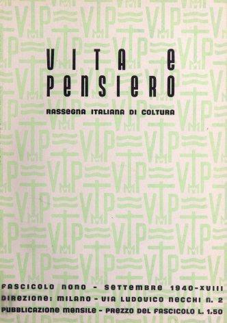 VITA E PENSIERO - 1940 - 9