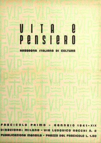 VITA E PENSIERO - 1941 - 1