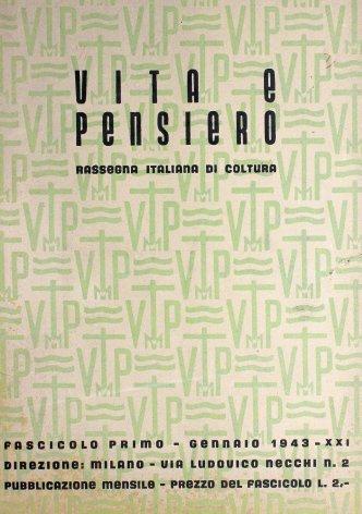 VITA E PENSIERO - 1943 - 1