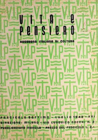 VITA E PENSIERO - 1943 - 7
