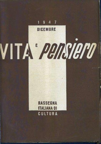 VITA E PENSIERO - 1947 - 12
