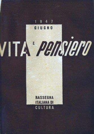 VITA E PENSIERO - 1947 - 6