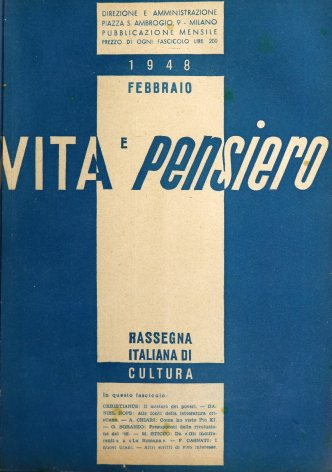 VITA E PENSIERO - 1948 - 2
