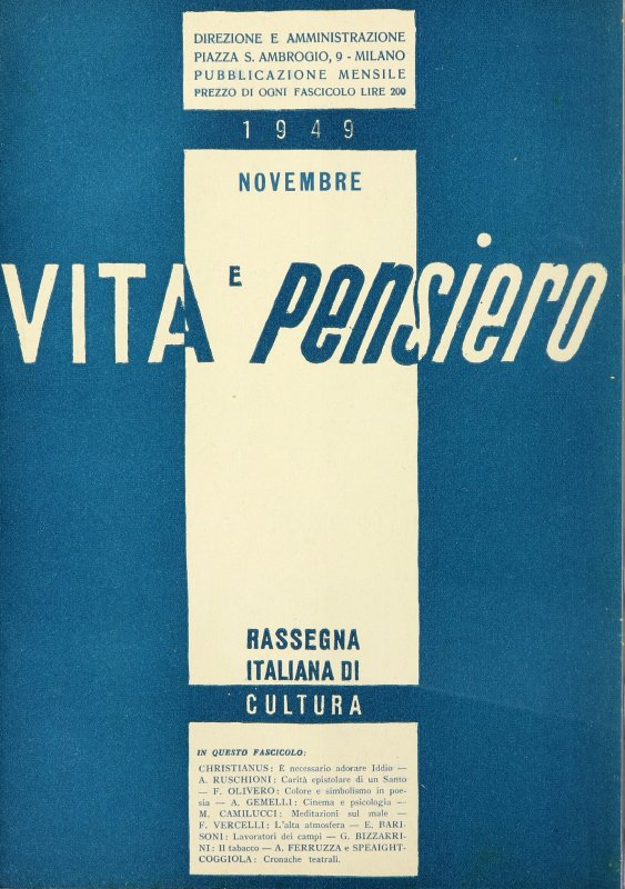 VITA E PENSIERO - 1949 - 11