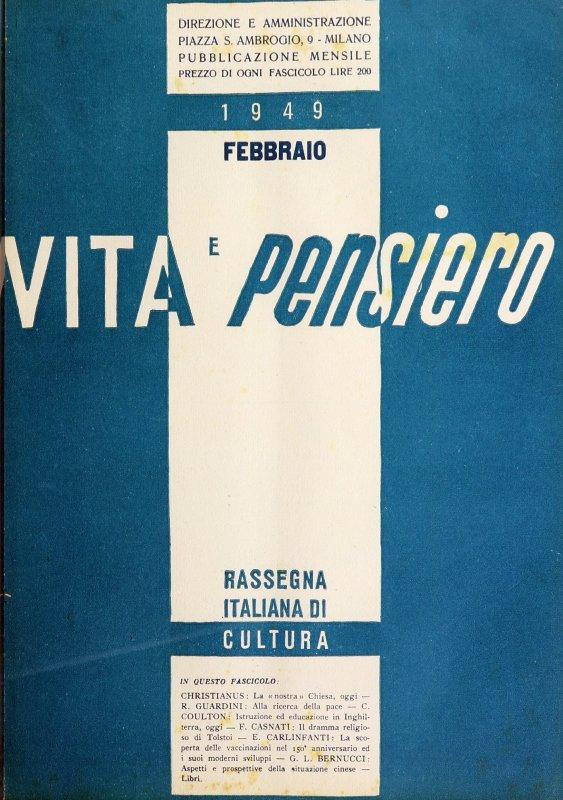 VITA E PENSIERO - 1949 - 2