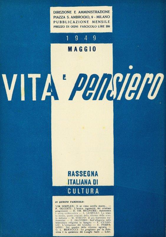 VITA E PENSIERO - 1949 - 5