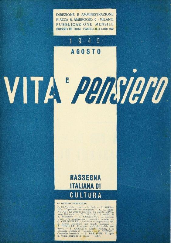 VITA E PENSIERO - 1949 - 8