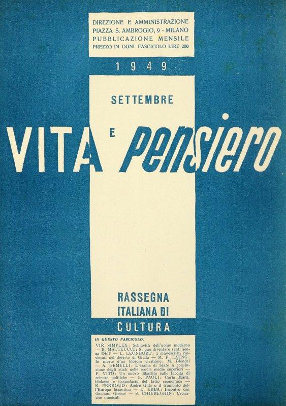 VITA E PENSIERO - 1949 - 9