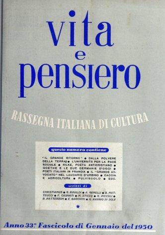 VITA E PENSIERO - 1950 - 1