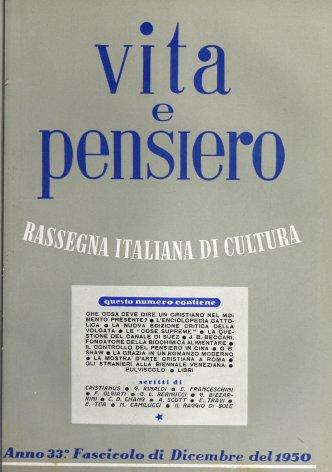 VITA E PENSIERO - 1950 - 12