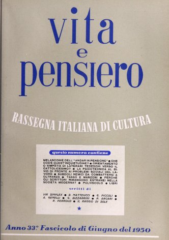VITA E PENSIERO - 1950 - 6